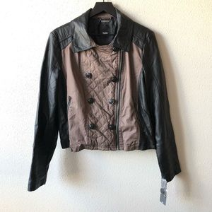 NWT Vegan Leather Double Breasted Jacket XXL